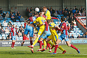during the EFL Sky Bet League 1 match between Scunthorpe United and AFC Wimbledon at Glanford Park, Scunthorpe, England on 30 March 2019.
