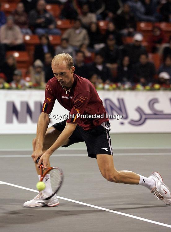 Qatar, Doha, ATP Tennis Turnier Qatar Open 2005, Nikolay Davydenko (RUS), 07.01.2005,<br /> Foto: Juergen Hasenkopf