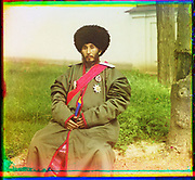 What Russian Empire Looked Like Before 1917… In Colour<br /> <br /> The Sergei Mikhailovich Prokudin-Gorskii Collection features colour photographic surveys of the vast Russian Empire made between ca. 1905 and 1915. Frequent subjects among the 2,607 distinct images include people, religious architecture, historic sites, industry and agriculture, public works construction, scenes along water and railway transportation routes, and views of villages and cities. An active photographer and scientist, Prokudin-Gorskii (1863-1944) undertook most of his ambitious colour documentary project from 1909 to 1915. <br /> <br /> Photo Shows; Isfandiyar, Khan of the Russian protectorate of Khorezm (Khiva). (between 1910 and 1915)<br /> ©Library of Congress/Prokudin-Gorskii/Exclusivepix Media