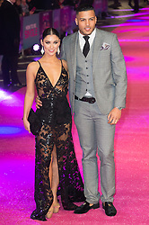 © Licensed to London News Pictures. 09/02/2016. London, UK. CALLY JANE BEECH and LUIS MORRISON attend the UK film of 'How To Be Single'.  The film is about a woman writing a book about bacherlorettes who becomes embroiled in an international affair while researching abroad<br /> Photo credit: Ray Tang/LNP