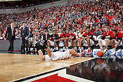 LOUISVILLE, KY - JANUARY 25: Kyle Kuric #14 of the Louisville Cardinals dives for a loose ball but cannot recover against the Villanova Wildcats during their game at KFC Yum! Center on January 25, 2012 in Louisville, Kentucky. (Photo by Joe Robbins)