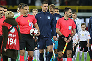 Gary Cahill (Captain) of England leads the team out during the International Friendly match between Germany and England at Signal Iduna Park, Dortmund, Germany on 22 March 2017. Photo by Phil Duncan.