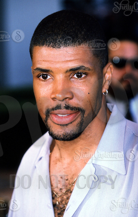 "Jun 26, 2000:  Actor Eriq La Salle at the premiere for 'Perfect Storm'.  Eriq played Dr. Peter Benton on the TV show ""ER"" for 169 episodes"