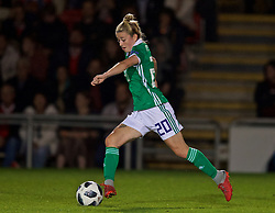 NEWPORT, WALES - Tuesday, September 3, 2019: Northern Ireland's substitute Rebecca McKenna during the UEFA Women Euro 2021 Qualifying Group C match between Wales and Northern Ireland at Rodney Parade. (Pic by David Rawcliffe/Propaganda)