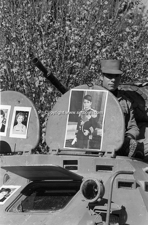 Iran - 11/12/1978 -Ispahan, demonstration for the shah , organized by the army   Tehran - Iran   /// Ispahan manifestation en faveur du shah     - Iran  /// IRAN25200 30