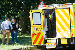 ©Licensed to London News Pictures 26/06/2020<br /> Orpington, UK. Coronavirus lockdown is over and crime is back on our streets. A gang of six youths on bikes have attacked a man in Orpington,South East London this afternoon. Police, paramedics and the London Air Ambulance attended the scene to find a man with head injuries and covered in blood. Photo credit: Grant Falvey/LNP