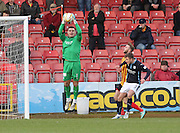 Kyle Letheren returned to the Dundee goal - Partick Thistle v Dundee - SPFL Premiership at Dens Park<br /> <br />  - &copy; David Young - www.davidyoungphoto.co.uk - email: davidyoungphoto@gmail.com