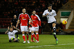 Marlon Pack of Bristol City tries to control the ball after Aden Flint misses a chance to socore - Photo mandatory by-line: Rogan Thomson/JMP - 07966 386802 - 20/12/2014 - SPORT - FOOTBALL - Crewe, England - Alexandra Stadium - Crewe Alexandra v Bristol City - Sky Bet League 1.