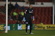 Brighton goalkeeper, David Stockdale (13) during the Sky Bet Championship match between Nottingham Forest and Brighton and Hove Albion at the City Ground, Nottingham, England on 11 April 2016.
