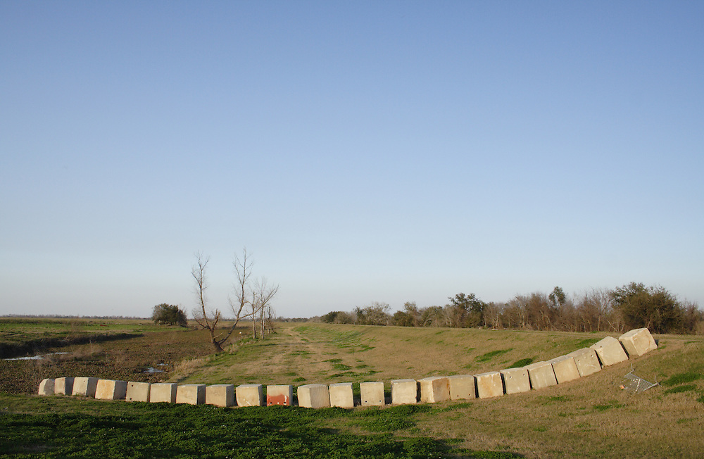 Concrete Blocks on Levee, St. Bernard Parish, LA