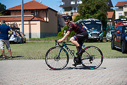 Tiffany Cromwell (AUS) makes her way to sign on at Giro Rosa 2018 - Stage 3, a 132 km road race starting and finishing in Corbetta, Italy on July 8, 2018. Photo by Sean Robinson/velofocus.com