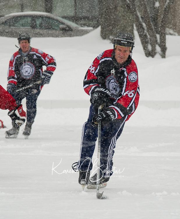 Pond Hockey Classic on Meredith Bay Friday, January 30, 2015.  Karen Bobotas for the Laconia Daily Sun