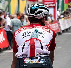 11.07.2019, Kitzbühel, AUT, Ö-Tour, Österreich Radrundfahrt, 5. Etappe, von Bruck an der Glocknerstraße nach Kitzbühel (161,9 km), im Bild Ben Hermans (BEL, Israel Cycling Academy) im roten Flyeralarm Trikot des Gesamtführenden der Österreich Rundfahrt // Ben Hermans of Belgium Team Israel Cycling Academy in the red Flyeralarm overall leaders jersey during 5th stage from Bruck an der Glocknerstraße to Kitzbühel (161,9 km) of the 2019 Tour of Austria. Kitzbühel, Austria on 2019/07/11. EXPA Pictures © 2019, PhotoCredit: EXPA/ Reinhard Eisenbauer