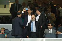 Tennis player Rafa Nadal attends Real Madrid V Atletico de Madrid match during 2014 Supercopa de España `Spain Supercup´ at Santiago Bernabeu stadium. August 19, 2014. (ALTERPHOTOS/Victor Blanco)