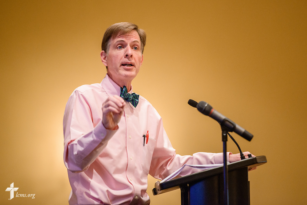 Tim Goeglein, vice-president for External Relations at Focus on the Family in Washington, D.C., speaks during the Liberty National LCMS Campus Ministry Conference on Wednesday, Jan. 4, 2017, at the University of Maryland in College Park, Md. LCMS Communications/Erik M. Lunsford