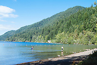 East Beach, Lake Crescent, Olympic National Park, WA