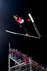 February 8, 2018 - Pyeongchang, SOUTH KOREA - 180208 Johann AndrŽ Forfang of Norway competes during the Men's Normal Hill Individual Qualification Trial ahead of the 2018 Winter Olympics on February 8, 2018 in Pyeongchang..Photo: Jon Olav Nesvold / BILDBYRN / kod JE / 160146 (Credit Image: © Jon Olav Nesvold/Bildbyran via ZUMA Press)