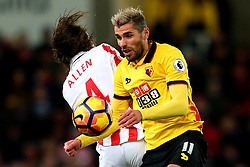 Valon Behrami of Watford challenges Joe Allen of Stoke City - Mandatory by-line: Matt McNulty/JMP - 03/01/2017 - FOOTBALL - Bet365 Stadium - Stoke-on-Trent, England - Stoke City v Watford - Premier League