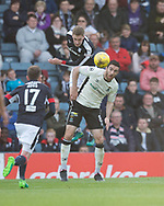 Dundee&rsquo;s Kevin Holt clears from Inverness&rsquo; Ross Draper - Dundee v Inverness Caledonian Thistle in the Ladbrokes Scottish Premiership at Dens Park, Dundee, Photo: David Young<br /> <br />  - &copy; David Young - www.davidyoungphoto.co.uk - email: davidyoungphoto@gmail.com