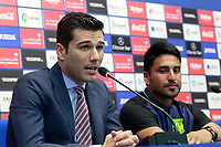 CD Leganes' new player Mauro Dos Santos (r) with the Managing Director Martin Ortega during his official presentation.  July 27, 2016. (ALTERPHOTOS/Acero)