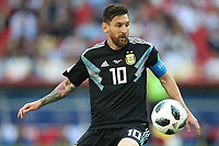 Football - 2018 FIFA World Cup - Group D: Argentina vs. Iceland<br /> <br /> Lionel Messi of Argentina is seen at Spartak Stadium (Otkritie Arena), Moscow.<br /> <br /> COLORSPORT/IAN MACNICOL