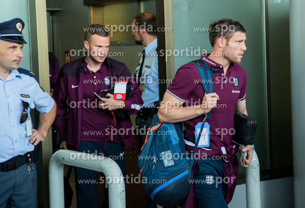 James Milner during arrival of  England National Football team 1 day before EURO 2016 Qualifications match against Slovenia, on June 13, 2015 in Airport Joze Pucnik, Brnik - Ljubljana, Slovenia. Photo by Vid Ponikvar / Sportida