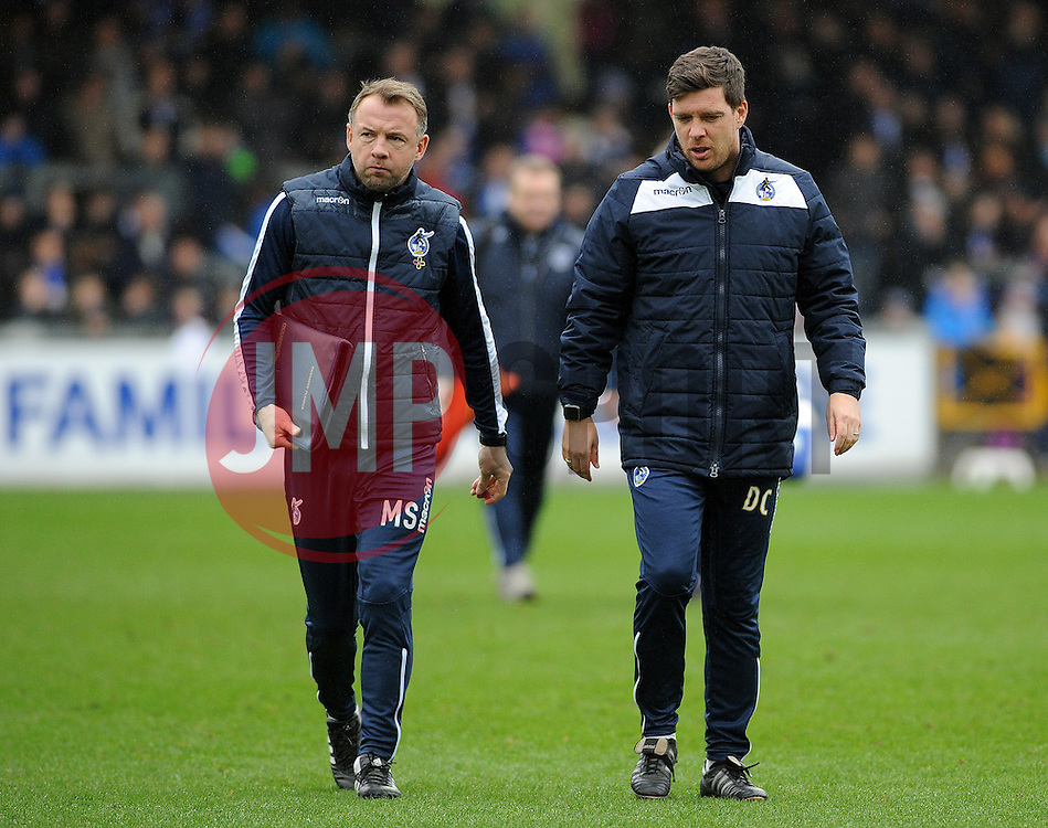 Bristol Rovers assistant manager Marcus Stewart with Bristol Rovers manager Darrell Clarke - Mandatory by-line: Neil Brookman/JMP - 25/02/2017 - FOOTBALL - Memorial Stadium - Bristol, England - Bristol Rovers v Scunthorpe United - Sky Bet League One