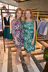 Left to right, JULIE-ANNE DUFF and ERIN MORRIS at the opening of Roksanda - the new Mayfair Store for designer Roksanda Ilincic at 9 Mount Street, London on 10th June 2014.