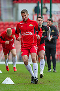 Doncaster Rovers Midfielder Matty Blair (17) warming up for the EFL Sky Bet League 1 match between Doncaster Rovers and Bristol Rovers at the Keepmoat Stadium, Doncaster, England on 27 January 2018. Photo by Craig Zadoroznyj.