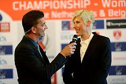 12-11-2014 BEL: Loting EK volleybal 2015 vrouwen, Antwerpen<br /> In het Antwerpse stadhuis werd door de Nederlandse-, Belgische volleybalbond en de CEV de loting voor het EK vrouwen verricht / Toernooi directeur Virginie de Carne