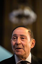 © Licensed to London News Pictures .02/09/2015 . Manchester , UK . SIR HOWARD BERNSTEIN speaks . Event and signing of a memorandum of understanding to mark partnerships between industry and the NHS , at the Great Hall at Manchester Town Hall . Service providers aim to improve access to cutting edge treatments within the NHS to patients in Greater Manchester , as part of the continuing devolution of the NHS in the region . Photo credit : Joel Goodman/LNP