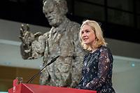 26 NOV 2017, BERLIN/GERMANY:<br /> Manuela Schwesig, SPD, Ministerpraesidentin MEcklenburg-Vorpommern, haelt eine REde anl. der Verleihung des Regine-Hildebrandt-Preises, Willy-Brandt-Haus<br /> IMAGE: 20171126-02-041