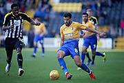 Mansfield Town midfielder Jacob Mellis (8) and Notts County midfielder Mitch Rose (26) during the EFL Sky Bet League 2 match between Notts County and Mansfield Town at Meadow Lane, Nottingham, England on 16 February 2019.
