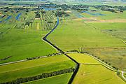Nederland, Overijssel, Giethoorn, 27-08-2013;<br /> Weide en voormalig veengebied tussen Giethoorn en Steenwijk. Giethoorn aan de horizon.<br /> Meadow and or form peat lands (East Netherlands).<br /> luchtfoto (toeslag op standaard tarieven);<br /> aerial photo (additional fee required);<br /> copyright foto/photo Siebe Swart.