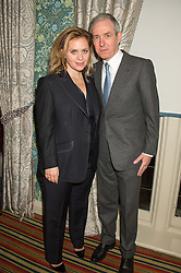 BILL PRINCE and LARA MINGAY at a cocktail reception hosted by the Woolmark Company, Pierre Lagrange and the Savile Row Bespoke Association to celebrate 'The Ambassador's Project' for London Collections Mens at Marks Club, Charles street, London on 8th January 2016.