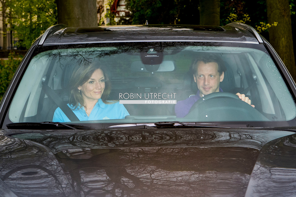 29-04-2017 The Hague Prince Floris and Princess Aimee arrive in their BMW auto for the birthday dinner of the Dutch King at the Royal Stable in The Hague.<br /> ROBIN UTRECHT