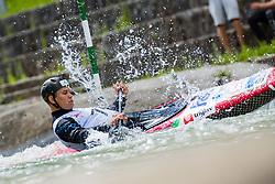 Jure Lenarcic during the Kayak Single (C1) Men race of Tacen Cup 2020 on May 24, 2020 in Tacen, Ljubljana, Slovenia. Photo By Grega Valancic / Sportida