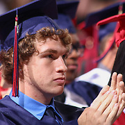 Christiana High School Class Vice President Justin Blank participating in Christiana annual commencement exercises Monday, June 01, 2015, at The Bob Carpenter Sports Convocation Center in Newark, Delaware.