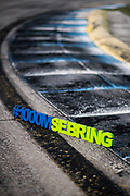 March 12-15, 2019: 1000 Miles of Sebring, World Endurance Championship. Curb detail