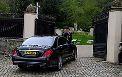 © Licensed to London News Pictures. 29/03/2017. London, UK. Guests arrive in driven cars. The funeral of pop singer George Michael takes place at Highgate Cemetery in north London. George Michael died unexpectedly at his home in North London in what a coroner ruled to be natural circumstances. Photo credit: Ben Cawthra/LNP