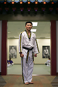 Master Sung C. Kim at Master Kim's Tae Kwon Do in Penfield on Thursday, August 20, 2015.