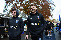 Freddie Burns and Max Wright and the rest of the Bath Rugby team arrive at the Rec - Mandatory byline: Patrick Khachfe/JMP - 07966 386802 - 16/11/2019 - RUGBY UNION - The Recreation Ground - Bath, England - Bath Rugby v Ulster Rugby - Heineken Champions Cup