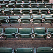 Seats during the Rochester Red Wings V The Scranton/Wilkes-Barre RailRiders, Minor League ball game at Frontier Field, Rochester, New York State. USA. 16th April 2013. Photo Tim Clayton