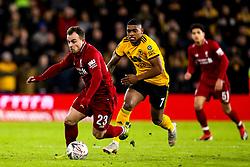 Xherdan Shaqiri of Liverpool takes on Ivan Cavaleiro of Wolverhampton Wanderers - Mandatory by-line: Robbie Stephenson/JMP - 07/01/2019 - FOOTBALL - Molineux - Wolverhampton, England - Wolverhampton Wanderers v Liverpool - Emirates FA Cup third round proper