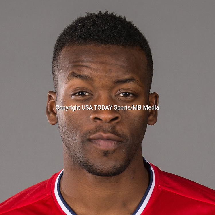 Feb 25, 2016; USA; Chicago Fire player Kingsley Bryce poses for a photo. Mandatory Credit: USA TODAY Sports