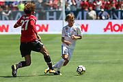Manchester United Midfielder Marouane Fellaini tackles Real Madrid Luka Modric during the AON Tour 2017 match between Real Madrid and Manchester United at the Levi's Stadium, Santa Clara, USA on 23 July 2017.