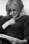 Marianne Faithfull at Island Records Fallout shelter studio 1981