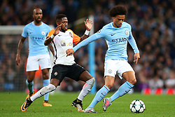 Leroy Sane of Manchester City takes on Fred of Shakhtar Donetsk - Mandatory by-line: Matt McNulty/JMP - 26/09/2017 - FOOTBALL - Etihad Stadium - Manchester, England - Manchester City v Shakhtar Donetsk - UEFA Champions League Group stage - Group F