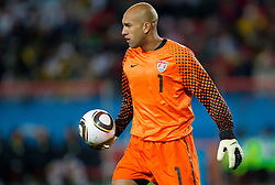 Goalkeeper of USA Tim Howard during the 2010 FIFA World Cup South Africa Group C match between Slovenia and USA at Ellis Park Stadium on June 18, 2010 in Johannesberg, South Africa. (Photo by Vid Ponikvar / Sportida)