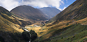 Scenes from the Von River Valley on a beautiful autumn day; Otago, New Zealand